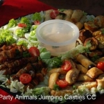 Party Animals Jumping Castels offers Savoury Platters010