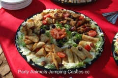 Party Animals Jumping Castels offers Savoury Platters011