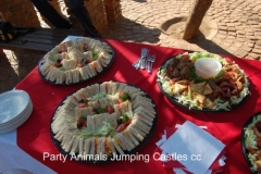 Party Animals Jumping Castels offers Savoury Platters015