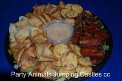 Party Animals Jumping Castels offers Savoury Platters022