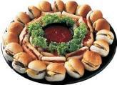 Hamburger and Hot Dog Platter