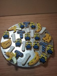 Party Animals Jumping Castles Minions Birthday biscuits