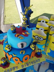 Party Animals Jumping Castles Minions Cake