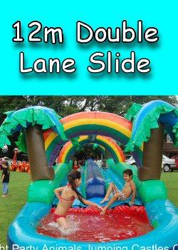 12m Double Lane Tropical Waterslide