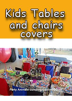 Kids tables and chairs covers