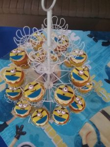 Party Animals Jumping Castles Minions Birthday cup cakes