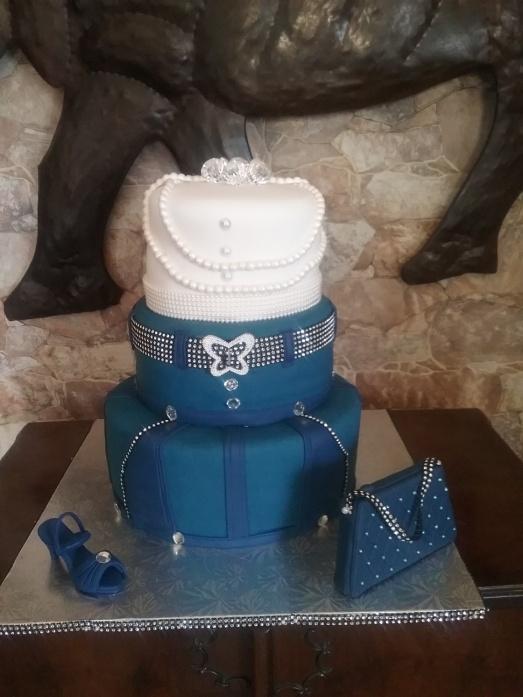 Denim And Diamonds 50th Birthday Cake And Biscuits Fun 4