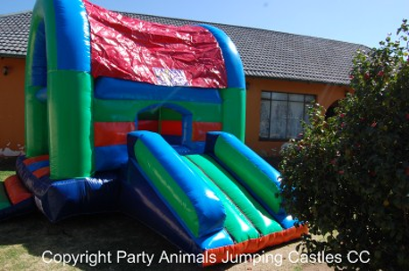 Medium Slide Castle 2 Fun 4 Party Animals For all your Jumping Castles and party hire needs