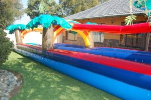 12m Double Lane Waterslides_4_Fun_4_Party_Animals_For_all_your_Jumping_Castles_and_party_hire_needs