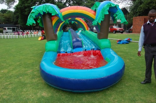 12m Double Lane Waterslides_1_Fun_4_Party_Animals_For_all_your_Jumping_Castles_and_party_hire_needs