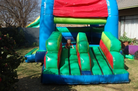 Medium Double Slide Castle 2 Fun 4 Party Animals For all your Jumping Castles and party hire needs