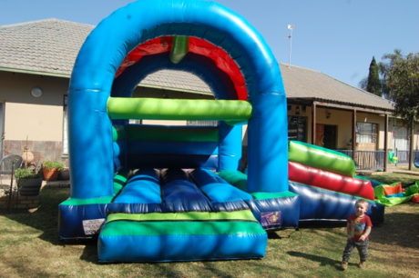 Medium Double Slide Castle 1 Fun 4 Party Animals For all your Jumping Castles and party hire needs