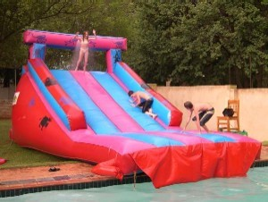 Gladiator and Pool Extension_2_Fun_4_Party_Animals_For_all_your_Jumping_Castles_and_party_hire_needs